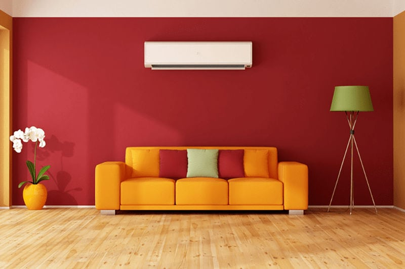 Ductless System in Living Room